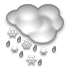 rain / snow showers early